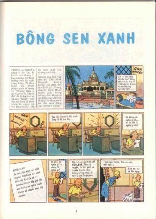 Tintin (en langues étrangères) -5Vietnamien- Bông sen xanh