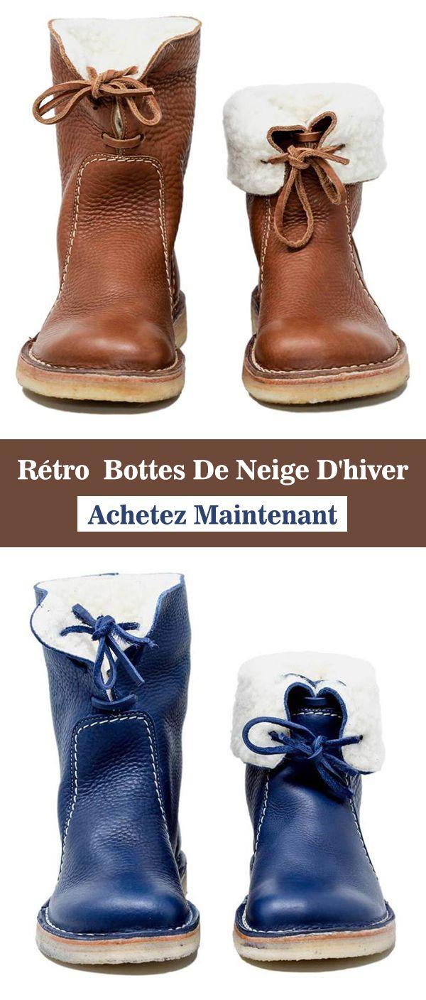 Rétro Bottes De Neige D hiver  85522eac727