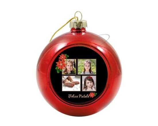 Palla di Natale in vetro colorato Black Christmas
