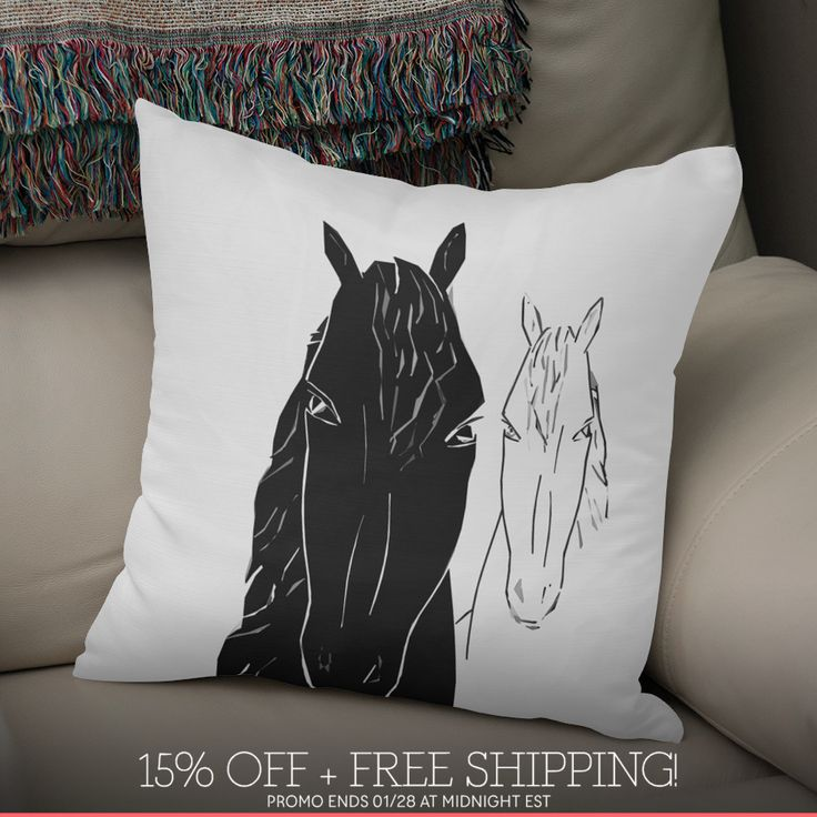 Discover «Horse couple», Numbered Edition Throw Pillow by anne corr - From $27 - Curioos