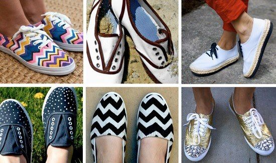 Jackpot - all 3:  DIY - Reusing AND Clever Hack.  If you have a plain (old) pair of shoes you can't part with, this can give them a second wind. Using fabric markers, you can give any plain canvas a makeover. #diy #shoes