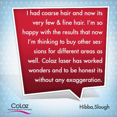 Our Satisfied Customer of Slough Branch was amazed with Results she got for the Treatments. You could be the next one.  #Beauty