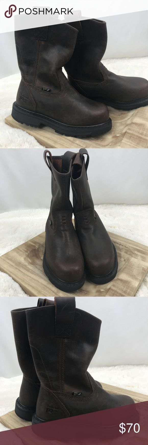 Timberland PRO Leather Boots Work Safety Steel Toe New without tags. Boots do have some small scratch marks from storage not noticeable. Timberland Shoes Boots