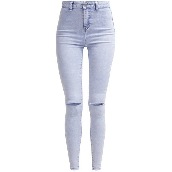 New Look MELON ACID Slim fit jeans ($38) ❤ liked on Polyvore featuring jeans, pants, bottoms, blue, zipper jeans, skinny jeans, blue jeans, slim skinny jeans y slim cut jeans