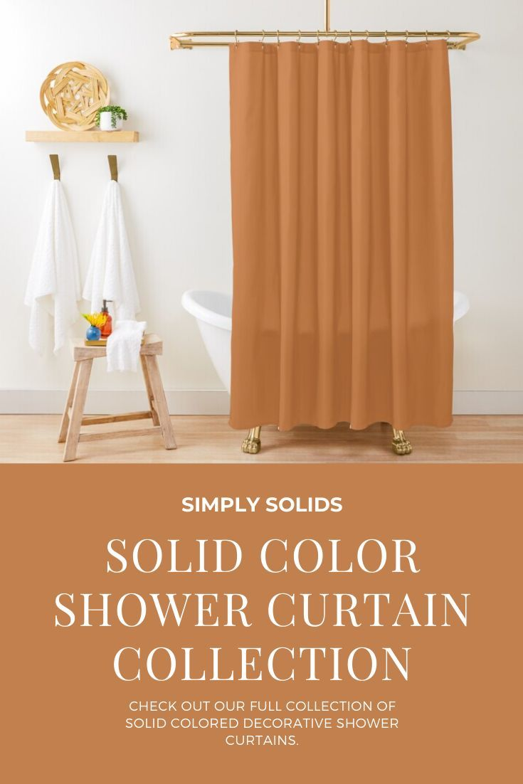Check Out Our Full Collection Of Solid Colored Decorative Shower Curtains On Redbubble Mat In 2020 Solid Color Shower Curtain Shower Curtain Decor Interior Wall Decor