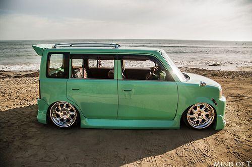 Custom, Mint Green Scion xB