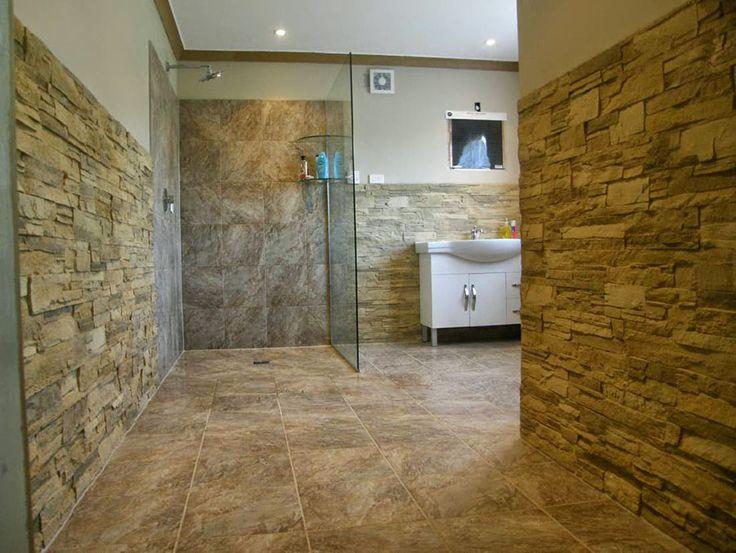 14 besten badezimmer mit steinwand bilder auf pinterest badezimmer steinwand und rock. Black Bedroom Furniture Sets. Home Design Ideas
