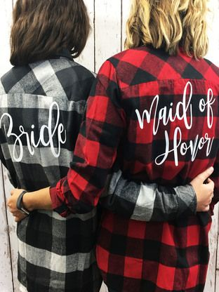 These custom flannels will be sure to keep you warm during your fall bachelorette party!