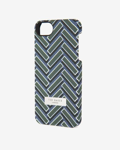 Herringbone printed iPhone 5/5s case - Navy | Accessories | Ted Baker UK
