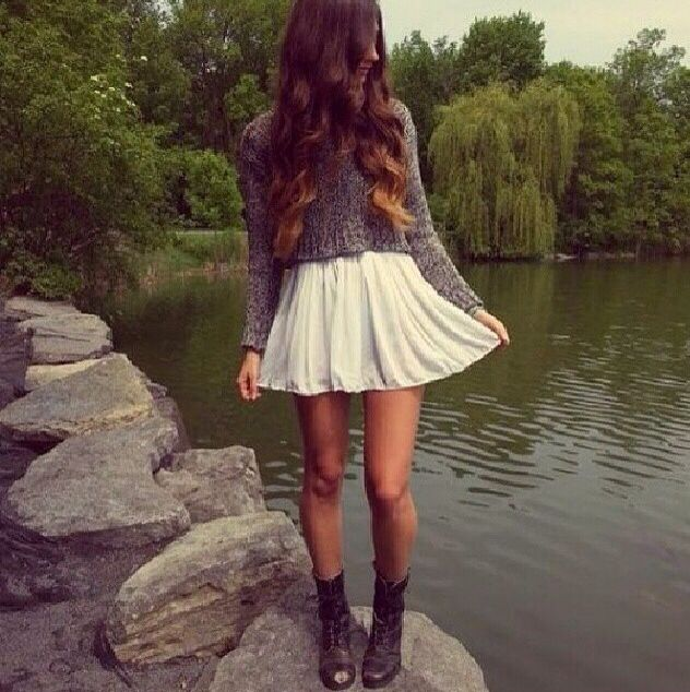 Skater dress and combat boots