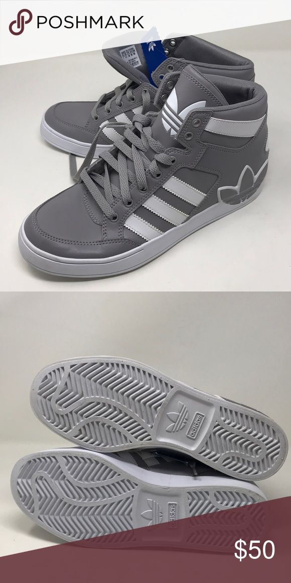 Boys Adidas Hard Court Hi shoes a10 box 2 The Boys Adidas Hard Court Hi shoes have a defects is the bottom of shoes are slightly off color the shoes have no original box but have original tags adidas Shoes Sneakers