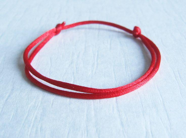 Good Luck Red String Bracelet. Friendship Bracelet. Dainty Bracelet. Adjustable Bracelet. Minimalist Jewelry. Made in Canada. by BoutiqueEV on Etsy https://www.etsy.com/listing/197606609/good-luck-red-string-bracelet-friendship