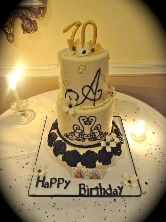 70th Birthday Cake Craftsy 70th Birthday Cake
