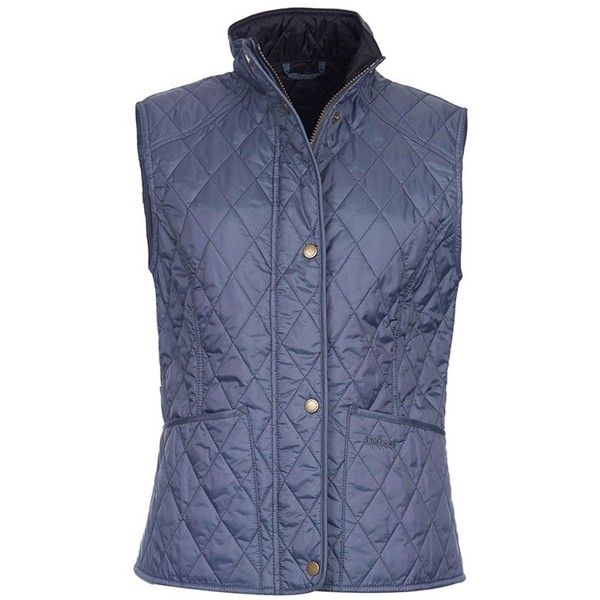 Women's Barbour Summer Liddesdale Gilet - Washed Charcoal (275 BRL) ❤ liked on Polyvore featuring outerwear, vests, barbour vest, barbour gilet, gilet vest, blue quilted vest and quilted gilet