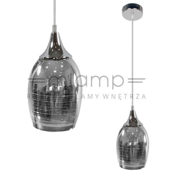 LAMPA wisząca MARINA 31-60174 Candellux szklana OPRAWA zwis chrom