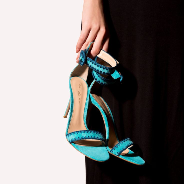 A pair of heeled sandals will always come in handy. The Antigua in light blue