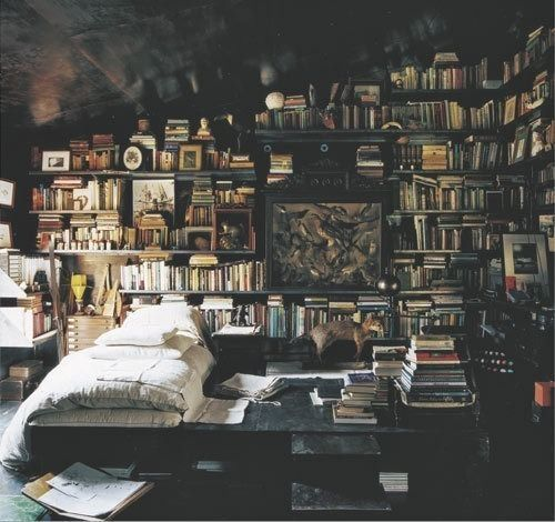 bedroom or library