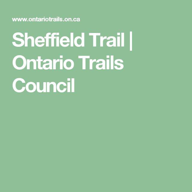 Sheffield Trail   Ontario Trails Council