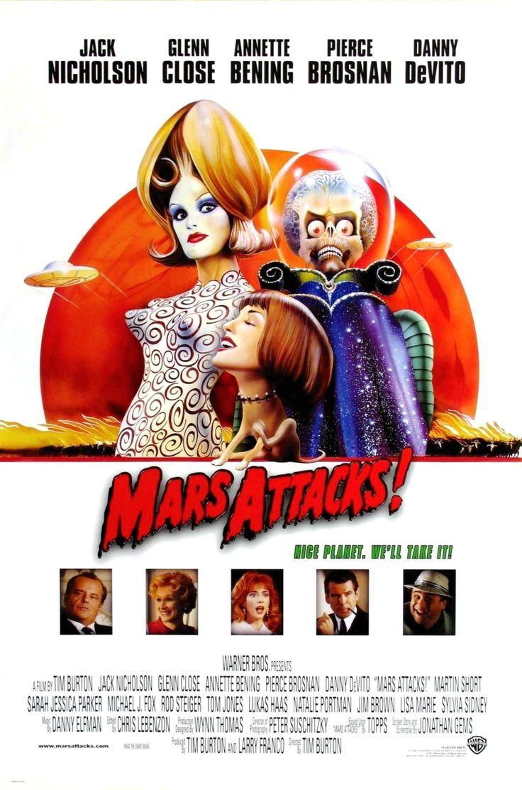"""Mars Attacks"" movie poster, 1996.   Natalie Portman ..."