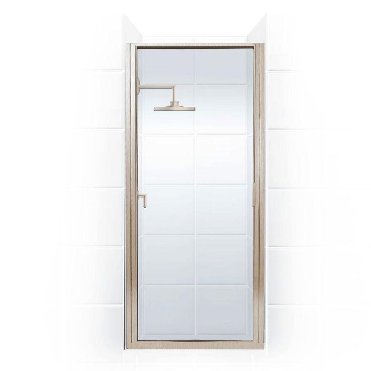 Coastal Shower Doors Paragon Series 36 in. x 82 in. Framed Continuous Hinged Shower Door in Brushed Nickel with Clear Glass