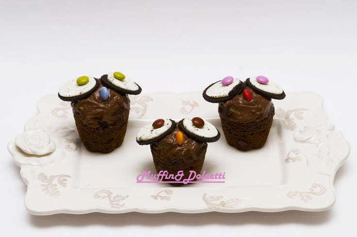 Muffin Gufetti con Oreo! Per la videoricetta clicca qui: http://youtu.be/OjK7FU8jLHo    Muffin Owl with Oreo! For the recipe click: http://youtu.be/OjK7FU8jLHo