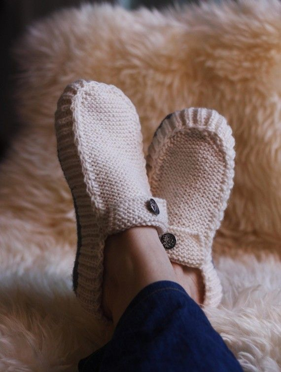 All Seasons Slippers Knitting Pattern. Clear silicone on the bottom makes them…