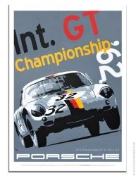 Porsche poster 1962 Int. GT Championship Porsche 356 Abarth