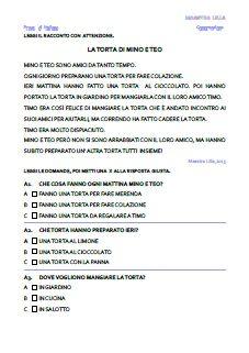 Prove oggettive italiano classe 1^(stampato maiuscolo) - maestra Lilla