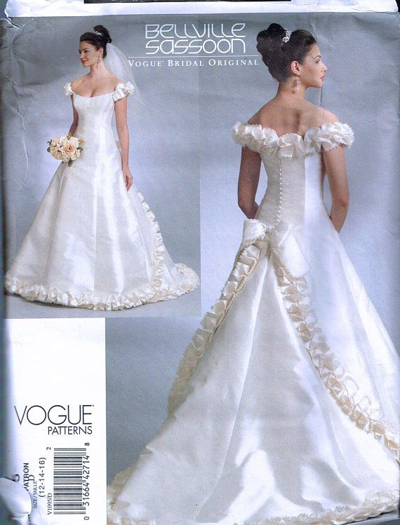 Boat Neck Wedding Dress Gown Train Bridesmaid Prom Sewing Pattern 6 8 10 12 14