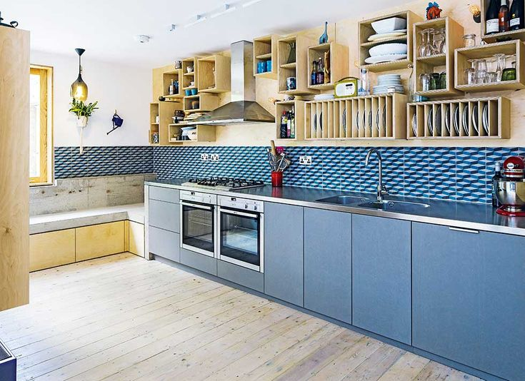 open plan side return extension kitchen units and storage