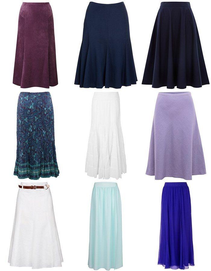 Long Skirts for Pear Shape