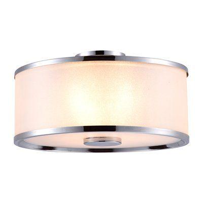 DVI DVP5303 3 Light Milan Medium Semi Flush Mount Ceiling Light