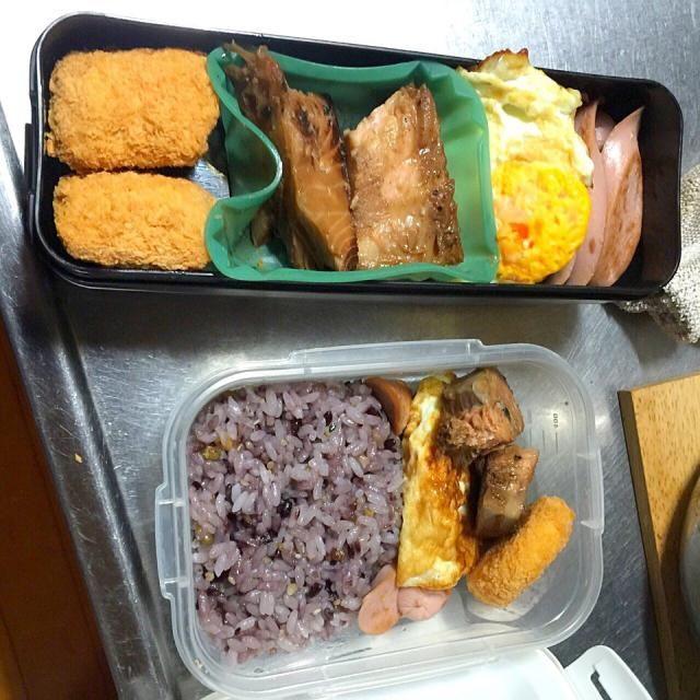 ちょっとぶりに作ったお弁当。ご飯は腐ってる訳じゃないよ。雑穀米ってやつ。ちょっとカラダに気を使ってみた。 - 36件のもぐもぐ - 気まぐれさんのお弁当 by miculo123