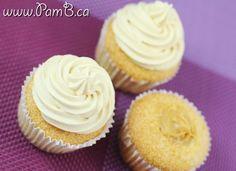 Cupcakes de Baunilha com Recheio e Buttercream de Doce de Leite