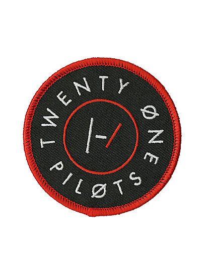 Twenty One Pilots Circle Logo Iron-On PatchTwenty One Pilots Circle Logo Iron-On Patch,