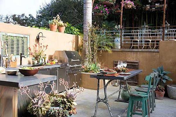 Outdoor Cooking Southwestern Landscaping Sandy Koepke Interior Design Los Angeles, CA