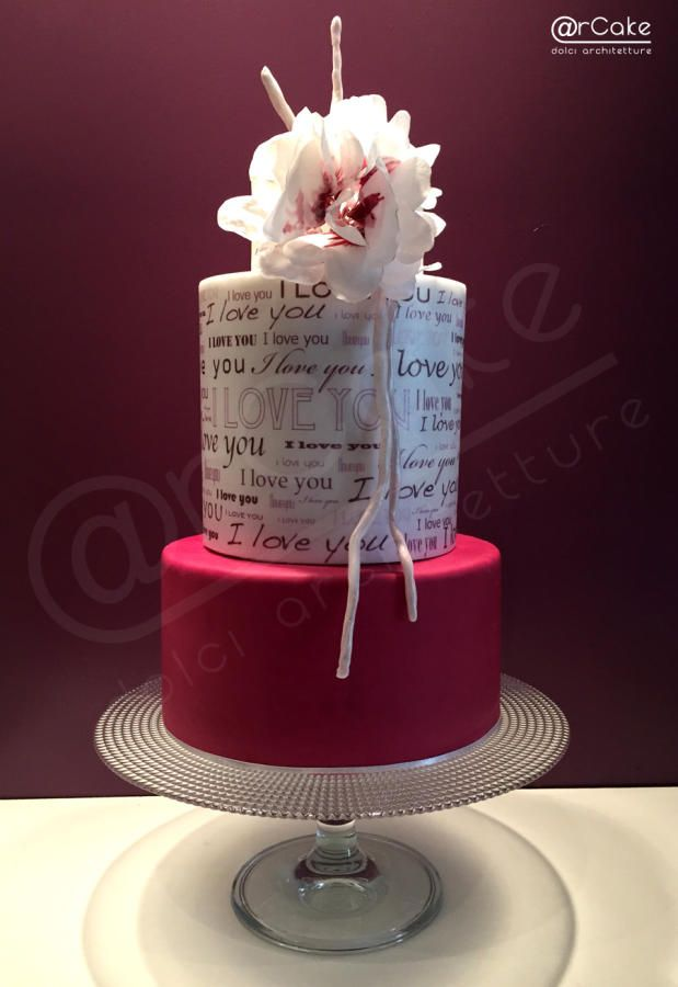 I LOVE YOU! - Cake by @rcake