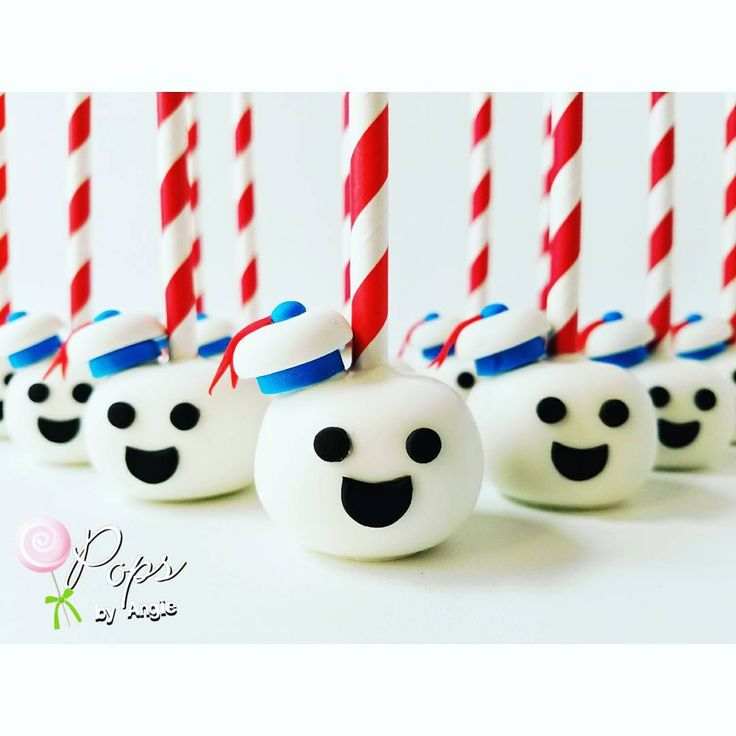 """612 Likes, 20 Comments - Angie Perez (@opopsbyangie) on Instagram: """"Stay Puff Marshmallow Man inspired cake pop. #ghostbusters #marshmallowman…"""""""