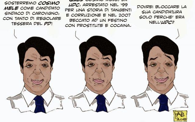 Un Mele al giorno toglie l'elettore di sinistra di torno #pd #cosimomele #tangenti #cocaina