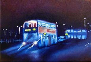 City Night Bus II / Curious Duke Gallery