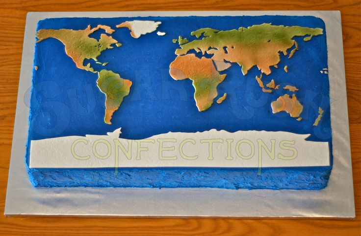 World Map Cake Craft Ideas Pinterest Nice Birthdays
