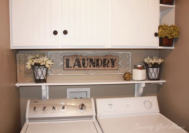 I need to do a shelf right above my washer dryer so things don't fall behind it.