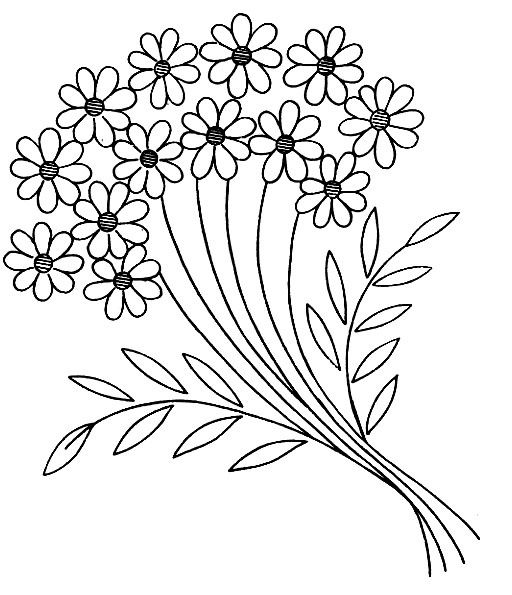 flower spray - embroidery design