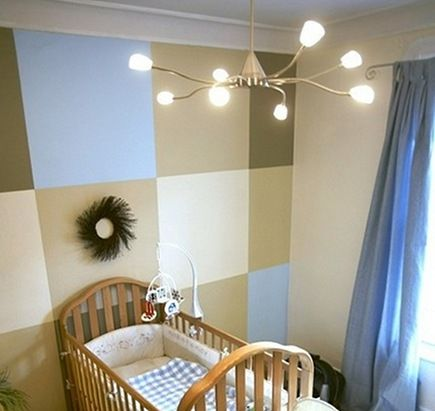 dec-room-kids-nurserymural3-435: Nurseries Wall, Boys Nurseries, Boys Rooms, Lighting Fixtures, Baby Boys, Baby Rooms, Nurseries Idea, Paintings Idea, Accent Wall