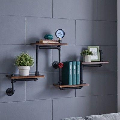 Tremendous Tiered Horizontal Wall Shelf Dark Brown Black Brown Beutiful Home Inspiration Xortanetmahrainfo