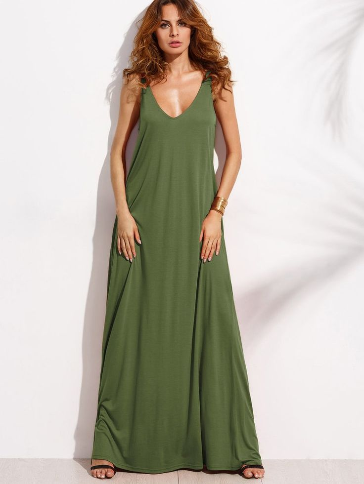 Army Green Sleeveless Double V-Neck A-Line Tent Dress  sc 1 st  Pinterest & The 25+ best Tent dress ideas on Pinterest | Dress patterns for ...