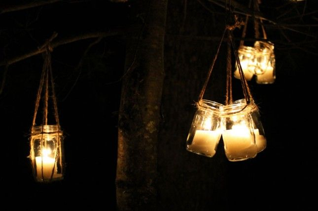 Instructions on how to make the hanging lanterns