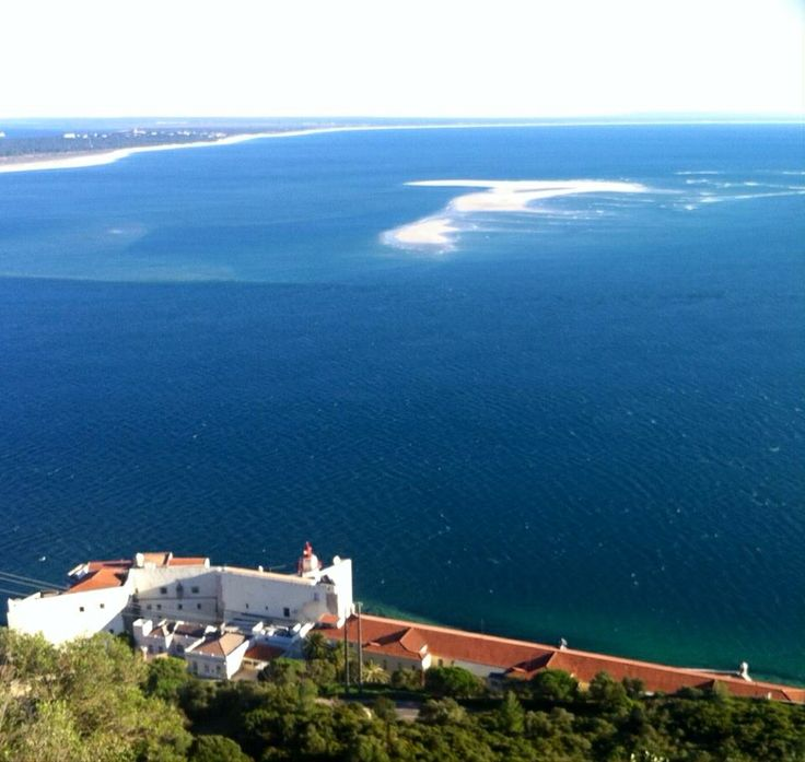 Atlantic view from #Arrábida Mountain & Troia #beach #Portugal