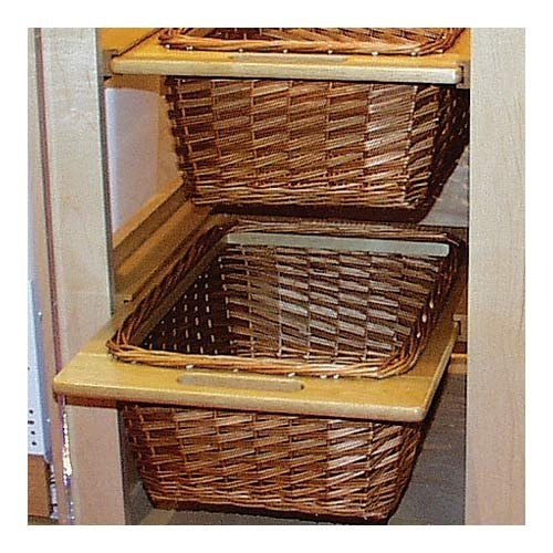 17 best images about wicker basket drawers 101 on for Baskets for kitchen cabinets