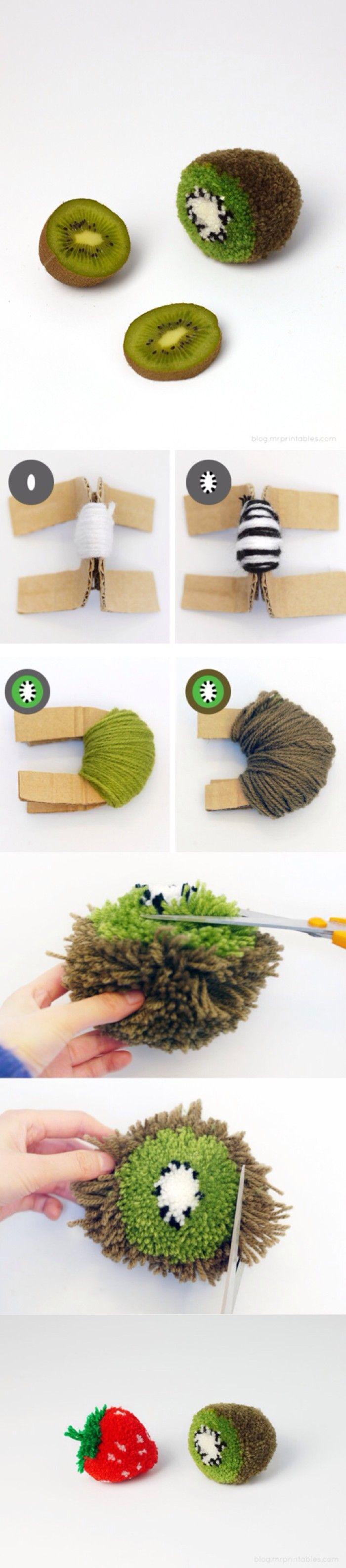 kiwi pompom